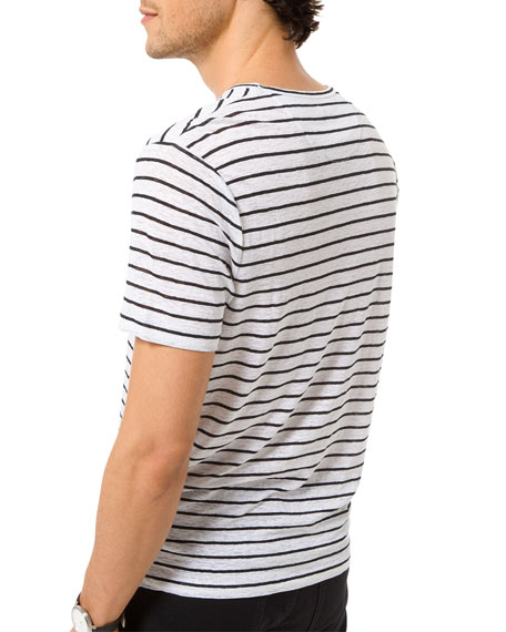 Michael Kors Men's Striped Slub T-Shirt