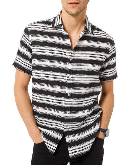 Michael Kors Men's Fane Striped Button-Down Shirt