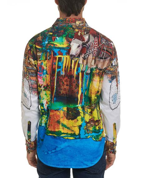 Robert Graham Men's Limited Edition The Yaki Warrior Sport Shirt