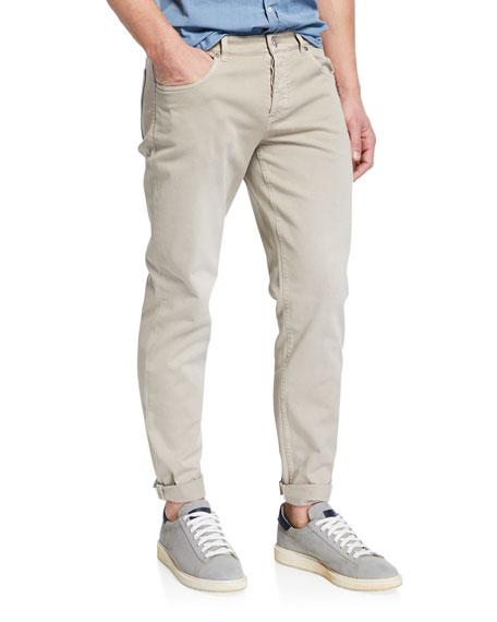 Brunello Cucinelli Men's Straight-Leg Dyed Denim Jeans
