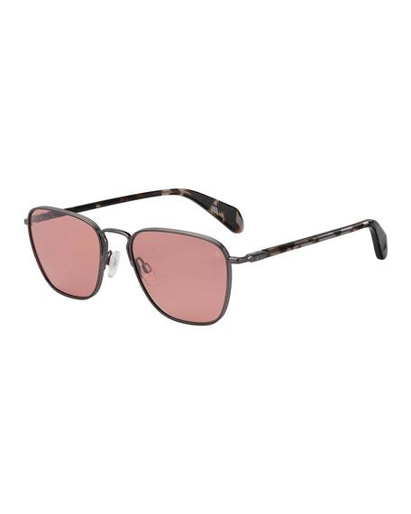 Rag & Bone Men's Square Metal Sunglasses