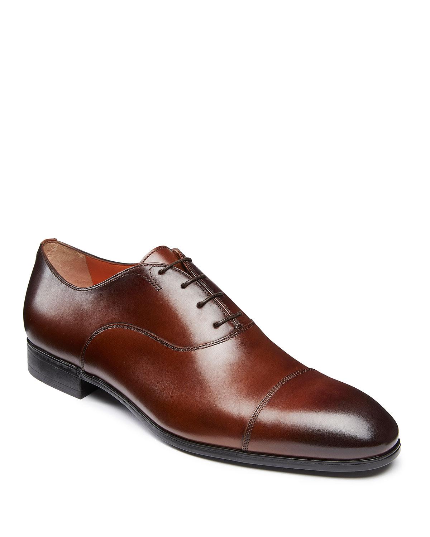 a94b1b5292 Santoni Men's Salem Leather Lace-Up Loafers, Brown | Neiman Marcus