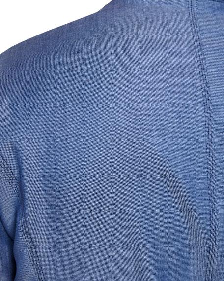 Stefano Ricci Men's Linen Zip-Front Sport Jacket