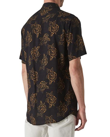 Neuw Men's Roses Short-Sleeve Sport Shirt