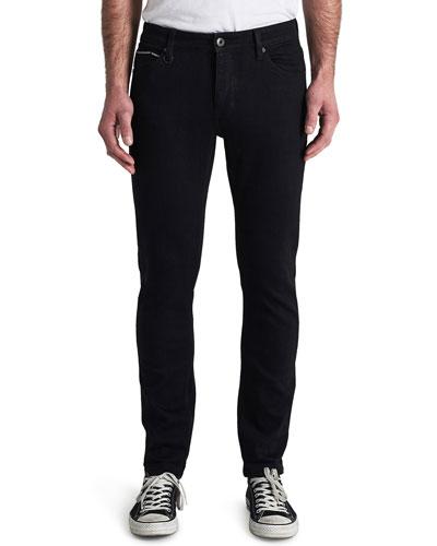 Men's Iggy Skinny Dark-Wash Jeans  Black Selvedge