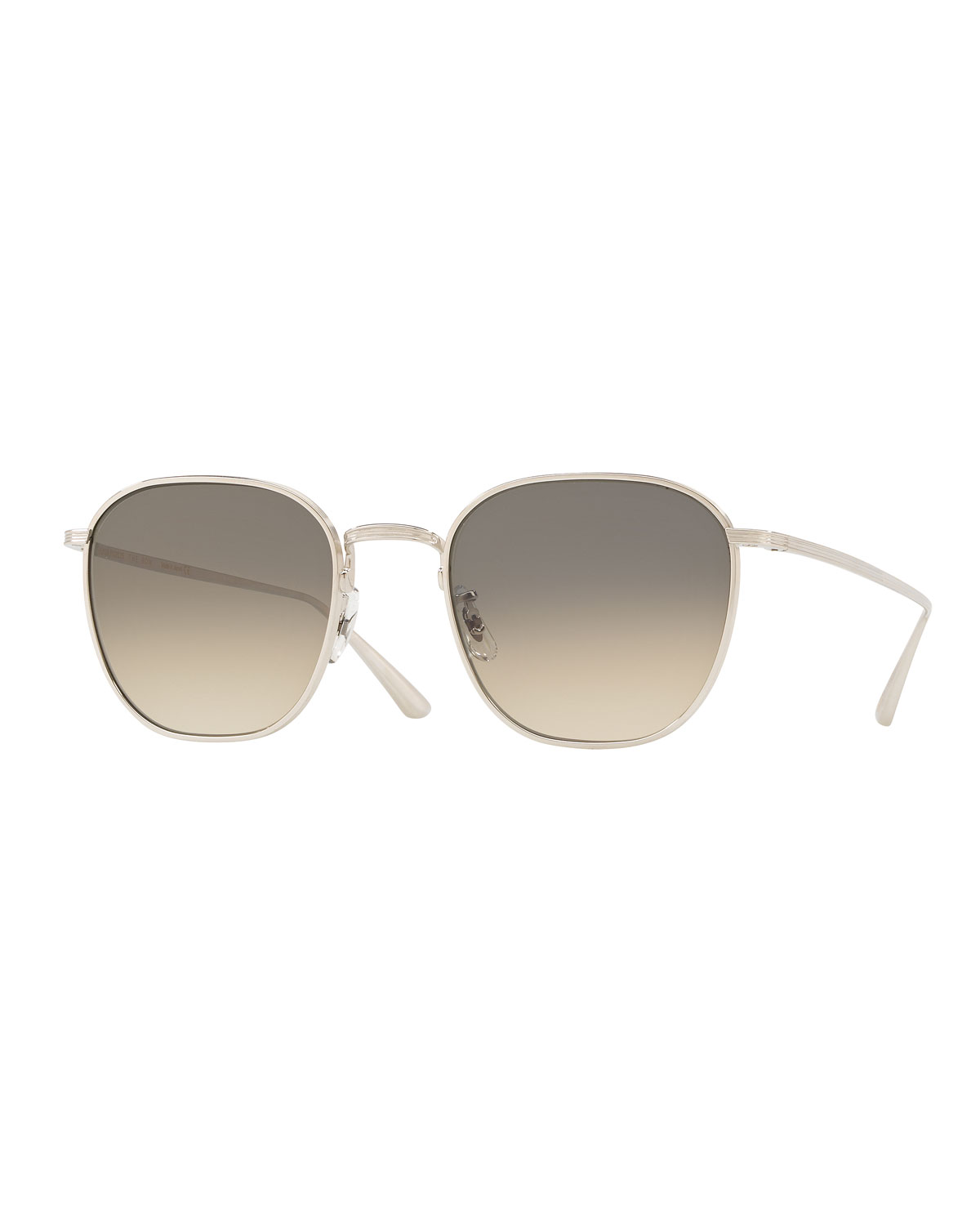 Oliver Peoples The Row Men's Board Meeting Square Gradient Titanium Sunglasses
