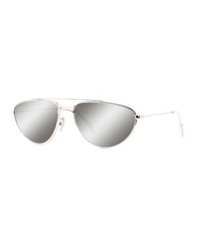 Men's Metal Pilot Sunglasses