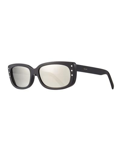 Men's Rock Rectangular Acetate Sunglasses