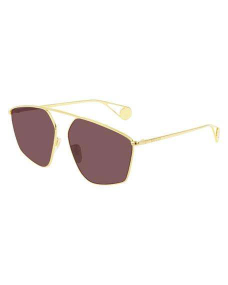 Gucci Men's Lightweight Metal-Frame Sunglasses