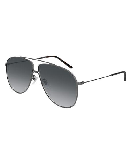 Gucci Men's Gradient Aviator Sunglasses