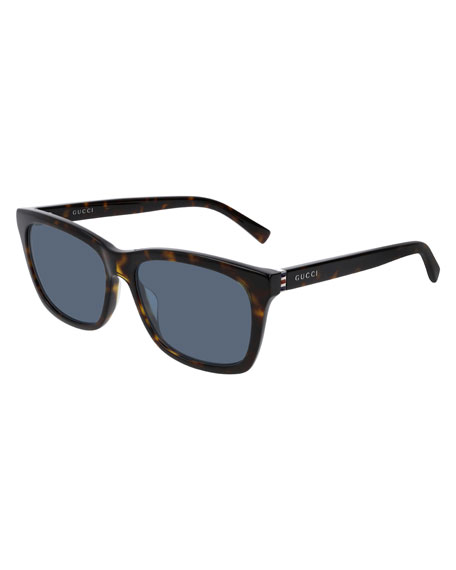 Gucci Men's Nylon Rectangle Sunglasses