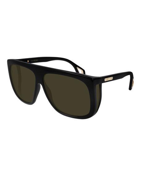 Gucci Men's Nylon Shield Sunglasses