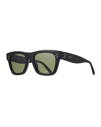 Men's Rectangular Acetate Sunglasses