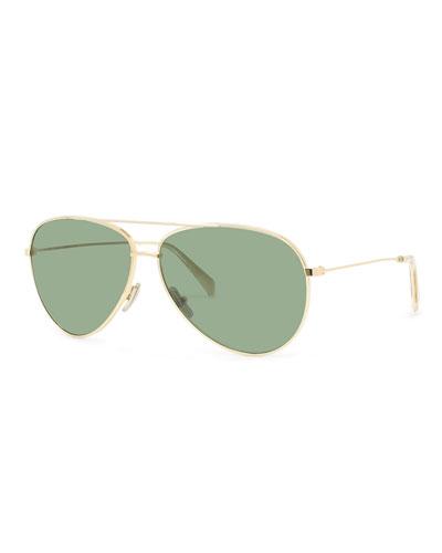 Men's Golden Aviator Sunglasses