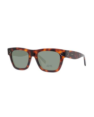 Men's Tortoiseshell Acetate Sunglasses