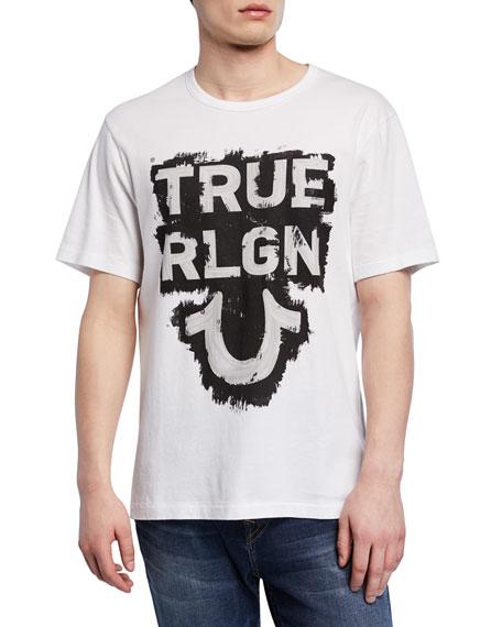 True Religion Men's Logo Branded Graphic T-Shirt