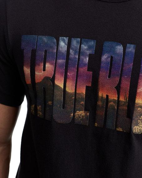 True Religion Men's Photo Real Logo T-Shirt