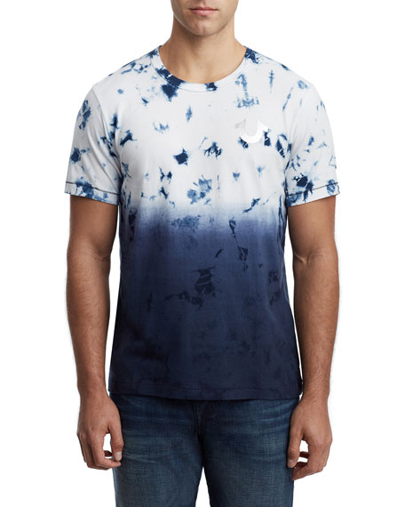 True Religion Men's Crystal Wash Ombre Short-Sleeve Cotton Tee