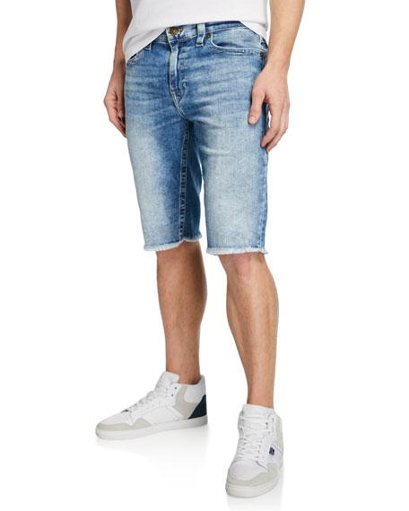 True Religion Men's Ricky Flap-Pocket Denim Shorts