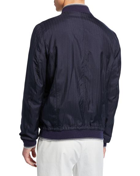 Stefano Ricci Men's Sport Contrast-Trim Silk Jacket