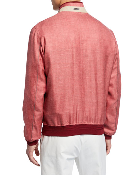 Stefano Ricci Men's Heathered Silky Wool-Cashmere Sport Jacket