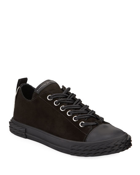 Giuseppe Zanotti Men's Blabber Low-Top Suede Sneakers