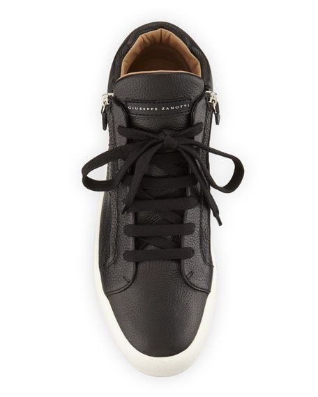 Giuseppe Zanotti Men's Updated Double-Zip Leather Sneakers