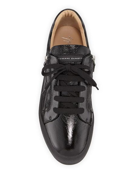Giuseppe Zanotti Men's Updated Double-Zip Patent Sneakers