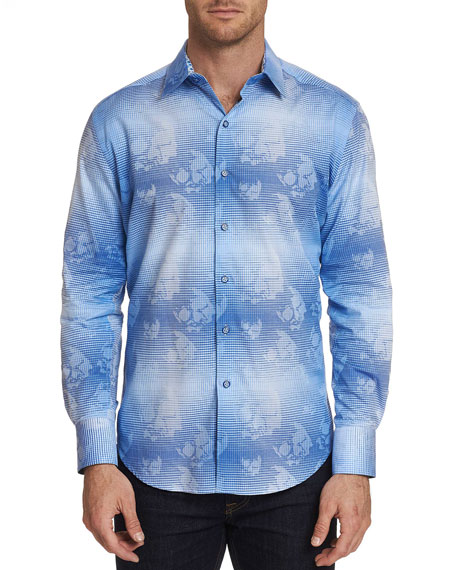 Robert Graham Men's Kings Valley Floral-Print Sport Shirt