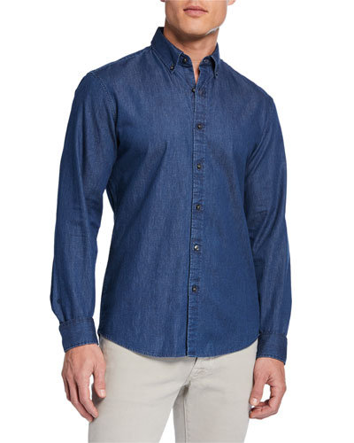 Men's Classic Double-Face Chambray Sport Shirt