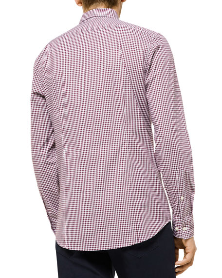 Michael Kors Men's Striped Plaid Trim-Fit Sport Shirt
