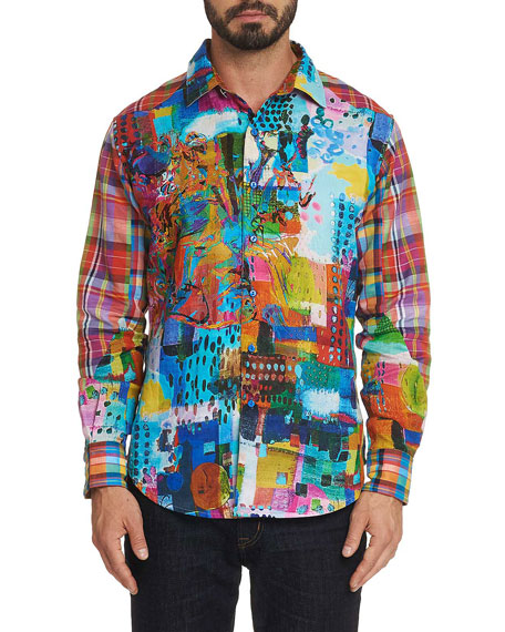 Robert Graham Men's Urban Dreams Graphic Sport Shirt
