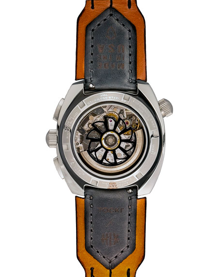 Tockr Watches Men's 45mm Air Defender Silverado Chronograph Watch, Green