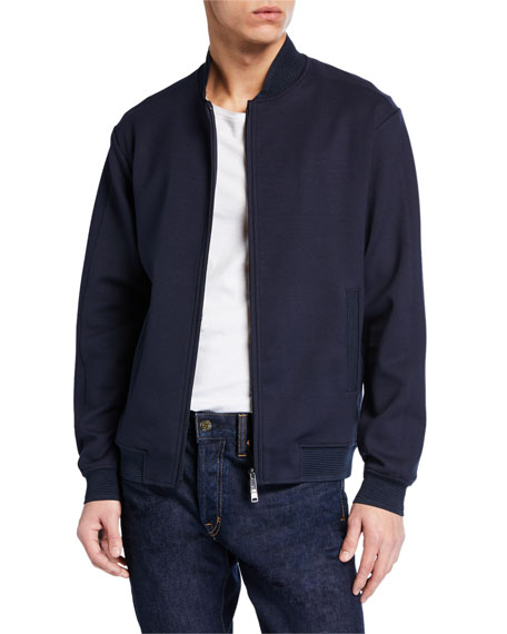 Emporio Armani Men's Hookup Zip-Front Knit Jacket