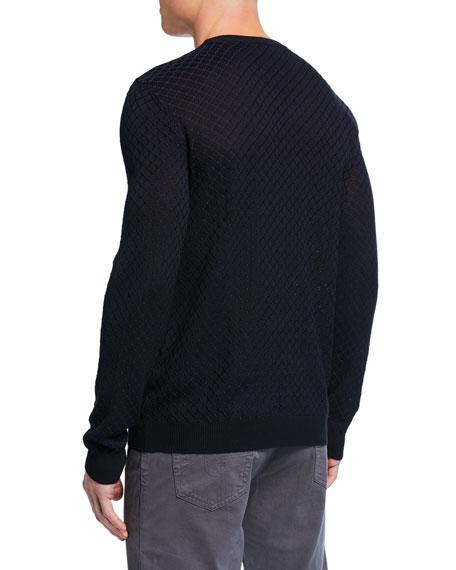 Emporio Armani Men's Geometric Knit Crewneck Sweater