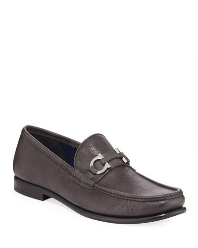 Men's Crown Gancio-Bit Leather Loafers