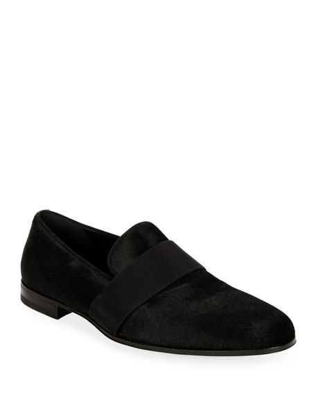 Salvatore Ferragamo Men's Bryden Calf Hair Loafers