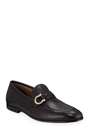 Salvatore Ferragamo Men's Leather Gancio Bit Loafers