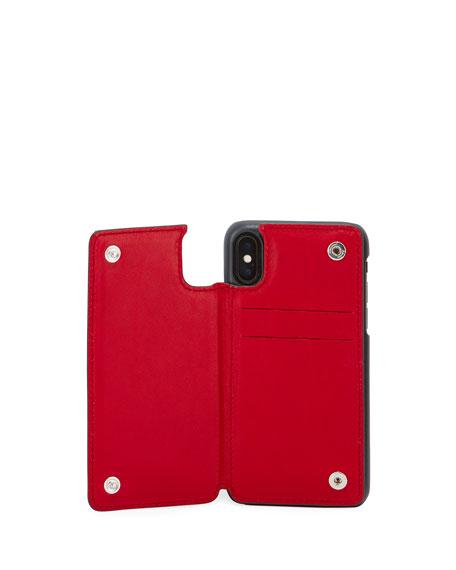 Salvatore Ferragamo Men's Revival Gancio Bicolor iPhone 8 Case with Card Holder