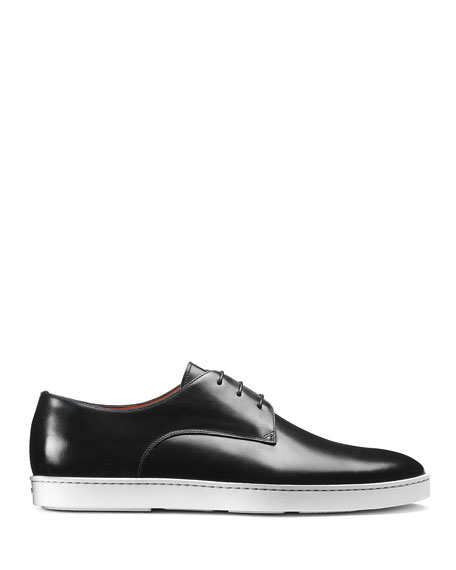 Image 2 of 5: Santoni Men's Doyle Leather Sneakers