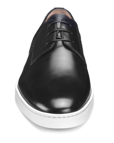 Image 3 of 5: Santoni Men's Doyle Leather Sneakers