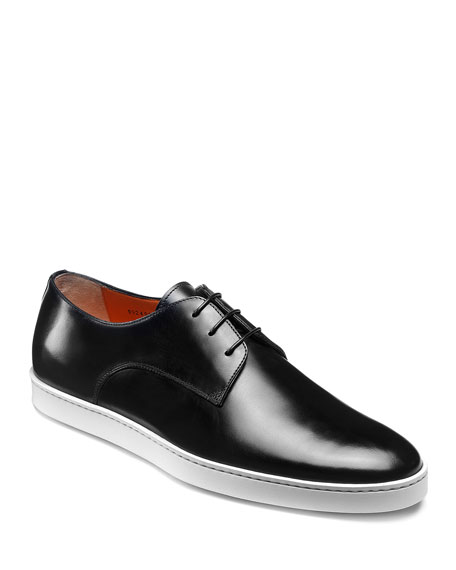 Image 1 of 5: Santoni Men's Doyle Leather Sneakers