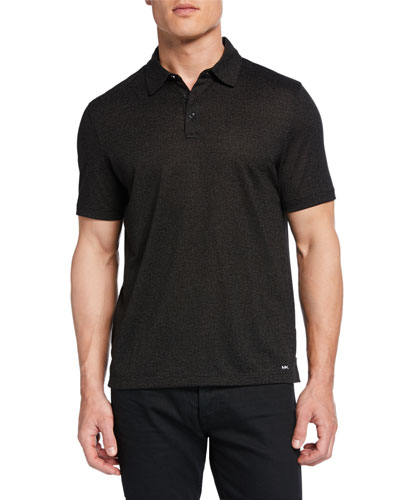 Men's Jasper Metallic-Jacquard Polo Shirt
