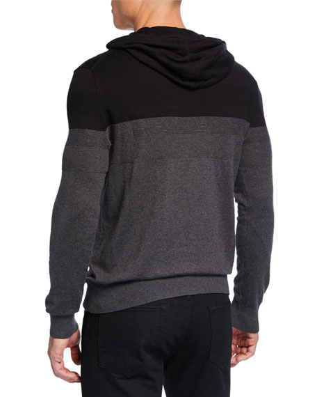 Michael Kors Men's Textured Stripe Pullover Hoodie