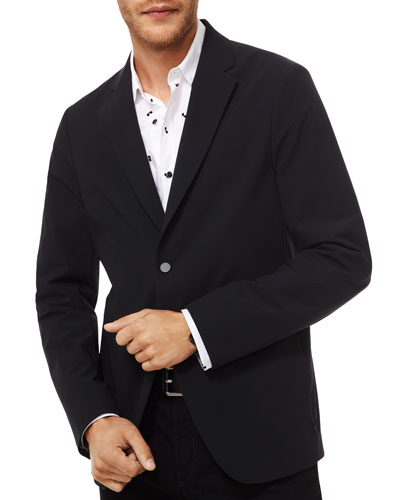 Men's Two-Button Nylon Sport Jacket