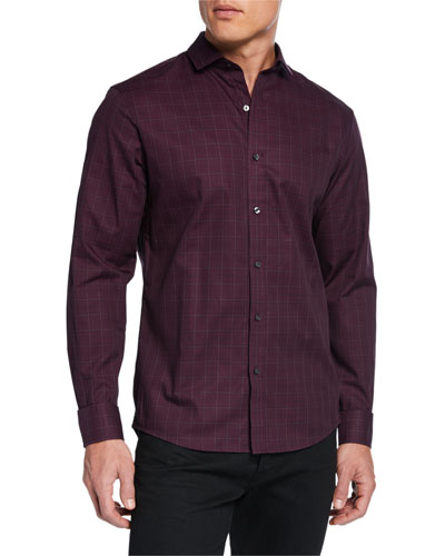 Men's Chaney Slim Plaid Sport Shirt