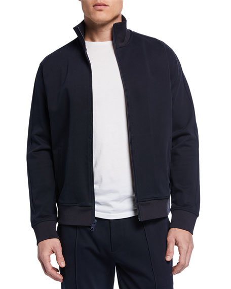 Vince Men's Zip-Front Structured Cotton Track Jacket