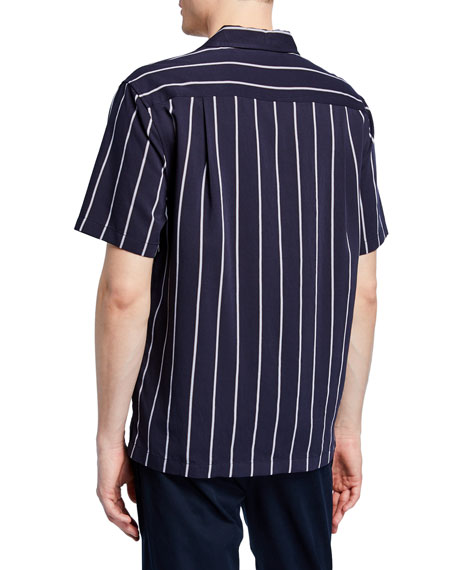 Image 2 of 2: Men's Striped Cabana Sport Shirt