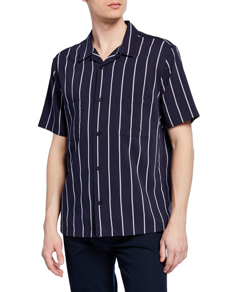 Image 1 of 2: Men's Striped Cabana Sport Shirt