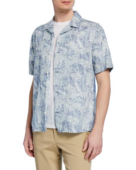 Vince Men's Short-Sleeve Double Face California Print Shirt
